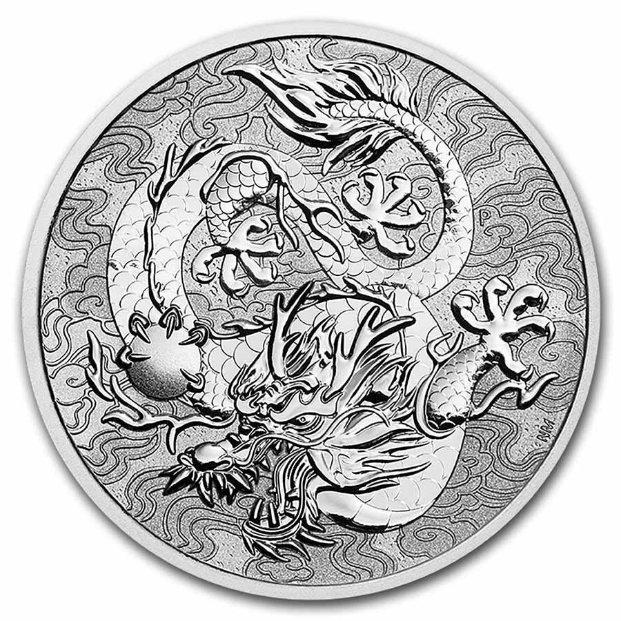 2021 Australia Myths & Legends: 1 oz Silver Dragon BU