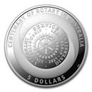 2021 Australia Silver $1 Centenary of Rotary Proof