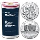 2021 Austria 1 oz Silver Philharmonic (20-Coin MintDirect® Tube)