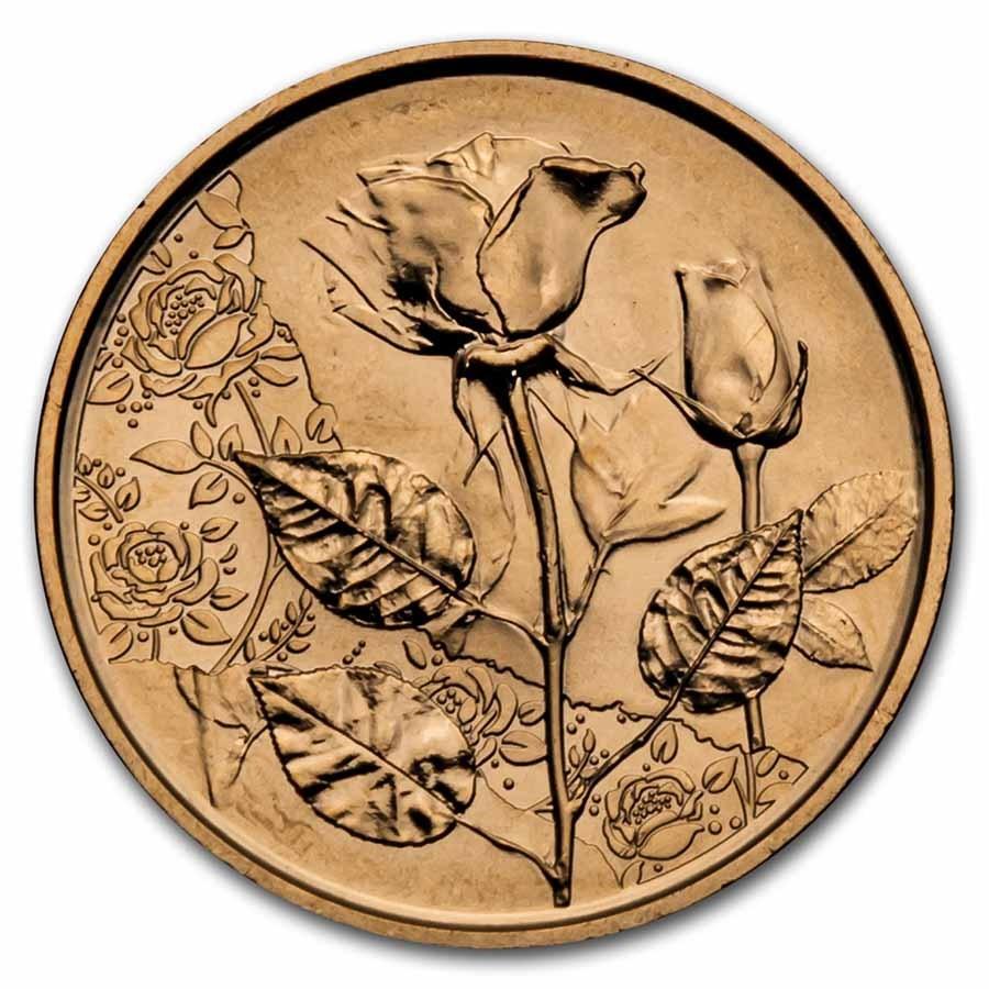 2021 Austria Copper €10 Language of Flowers (Rose)