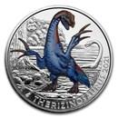 2021 Austria Cupro-Nickel €3 Color Supersaurs (Therizinosaurus)
