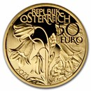 2021 Austria Proof Gold €50 Alpine Treasures (Alpine Forests)