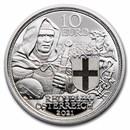 2021 Austria Proof Silver €10 Knights' Tales (Brotherhood)