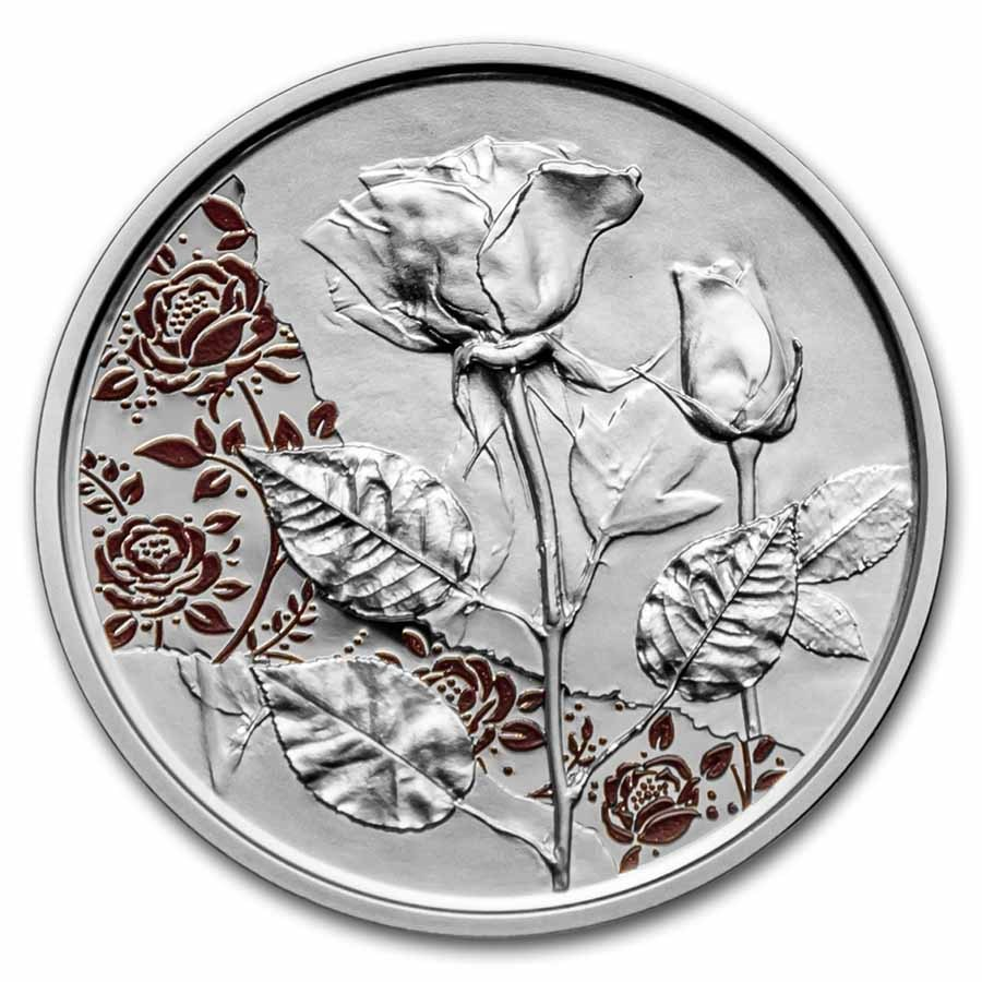 2021 Austria Proof Silver €10 Language of Flowers (Rose)