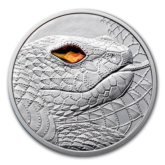 2021 Austria Silver €20 Eyes of the World Australia Serpent