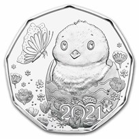 2021 Austria Silver €5 Easter Chick