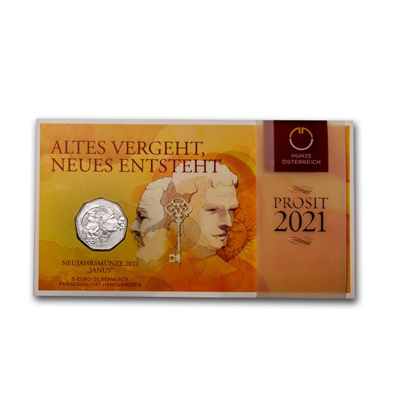 2021 Austria Silver €5 New Year's: Janus