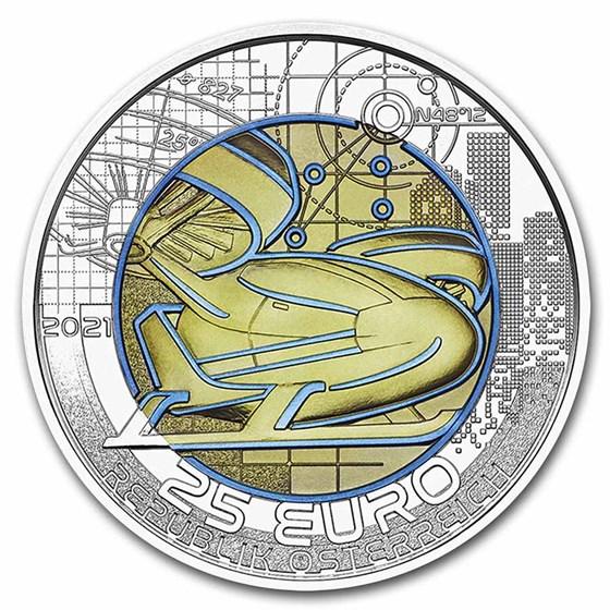 2021 Austria Silver/Niobium Smart Mobility €25 BU