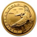 2021 Barbados 1 oz Gold Caribbean Pelican BU