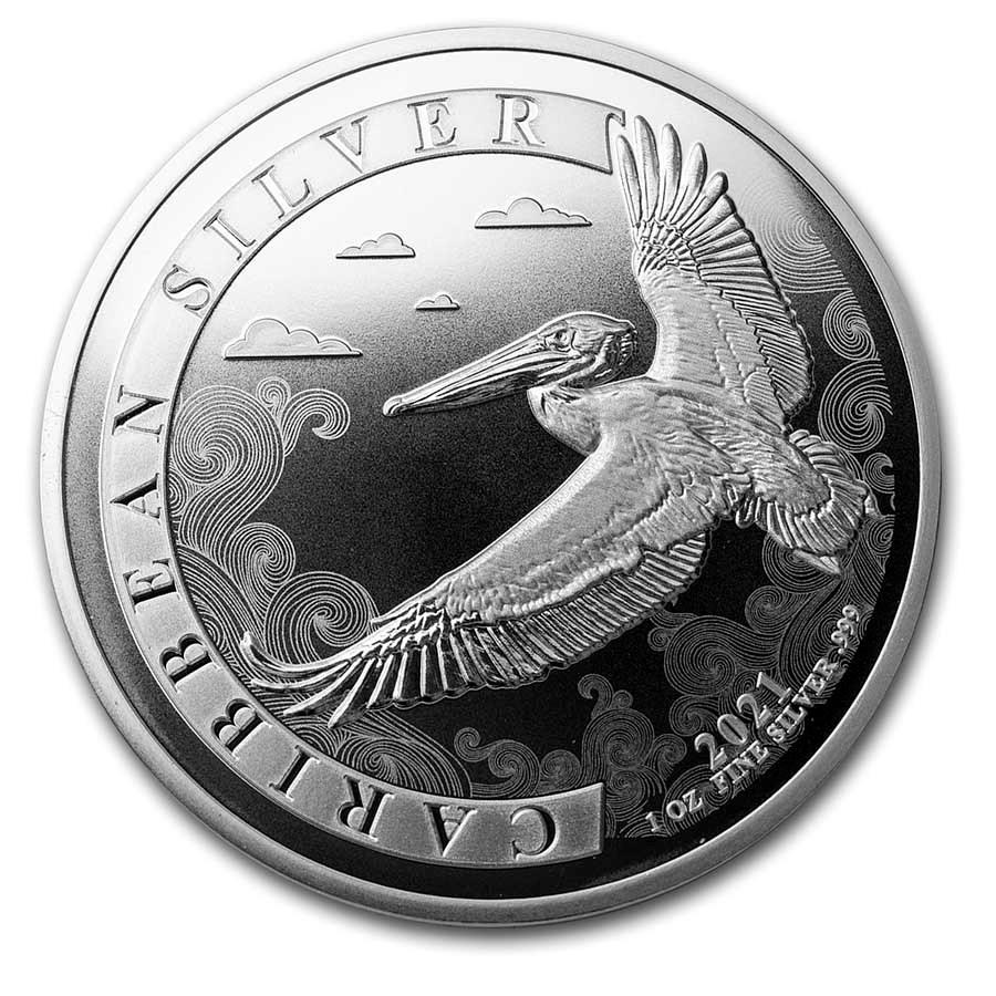 2021 Barbados 1 oz Silver Caribbean Pelican BU