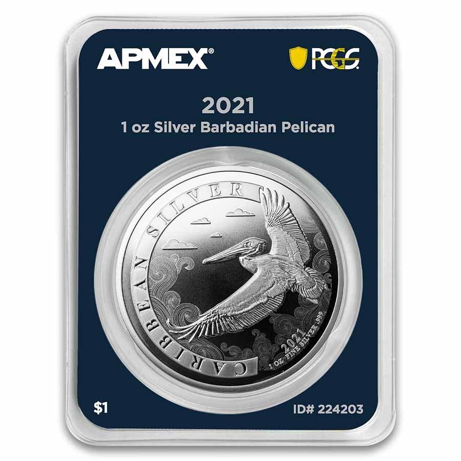 2021 Barbados 1 oz Silver Pelican (MD® Premier + PCGS FS)