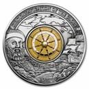 2021 Barbados 3 oz Silver 500th Anniversary Ferdinand Magellan