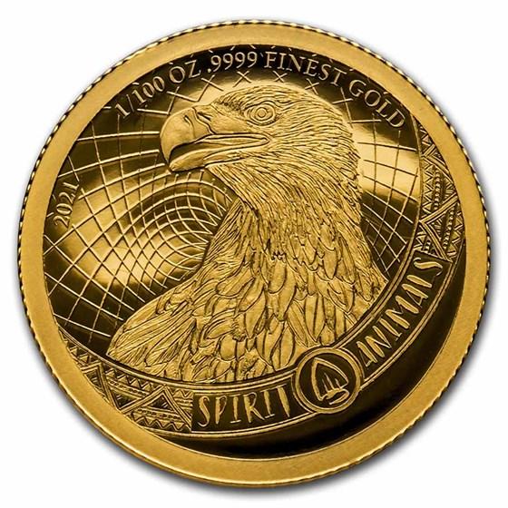 2021 Barbados Gold 3-Coin Spirit Animals Set