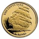 2021 BIOT 1/2 gram Gold Cutty Sark Cameo BU (w/Box & COA)