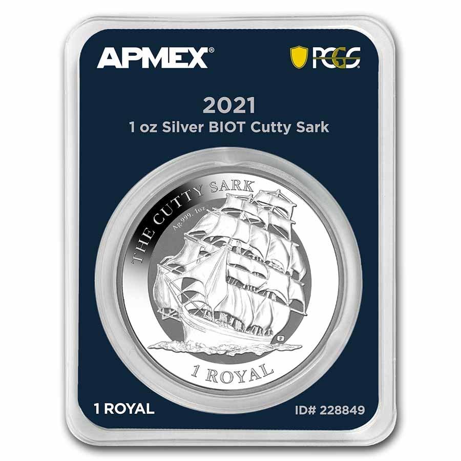 2021 BIOT 1 oz Silver Cutty Sark (MD® Premier + PCGS FS)