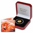 2021 BVI 1/2 gram Gold Flamingo Cameo BU (w/Box & COA)