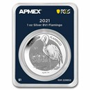 2021 BVI 1 oz Silver Flamingo (MD® Premier + PCGS FS)