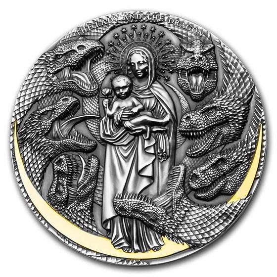 2021 Cameroon 3 oz Silver Apocalypse: The Lady & The Dragon