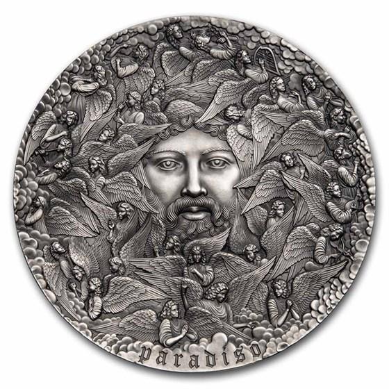 2021 Cameroon 5 oz Silver 700th Anniv The Divine Comedy: Paradiso