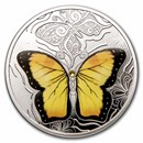 2021 Cameroon Silver Colorful World of Butterflies