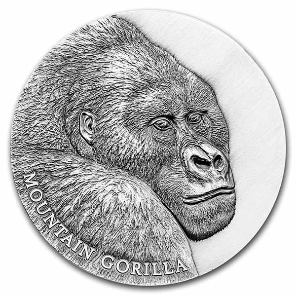 2021 Cameroon Silver Expressions of Wildlife: Mountain Gorilla