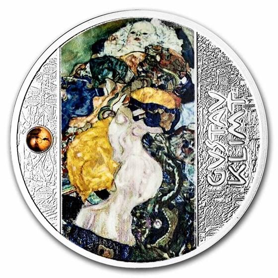 2021 Cameroon Silver Gustav Klimt; Baby