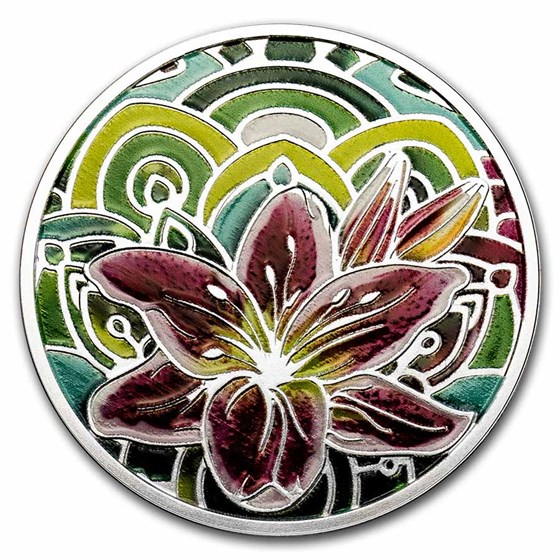2021 Cameroon Silver Lily Proof