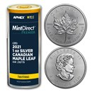 2021 CAN Silver Maple Leaf (25-Coin MD® Premier Tube + PCGS FS)