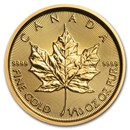 2021 Canada 1/10 oz Gold Maple Leaf BU