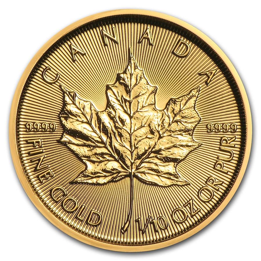 2021 Canada 1/10 oz Gold Maple Leaf BU