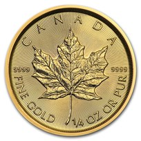 2021 Canada 1/4 oz Gold Maple Leaf BU