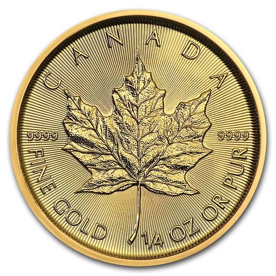 2021 Canada 1/4 oz Gold Maple Leaf BU