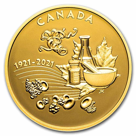 2021 Canada 1 oz Gold $200 The Discovery of Insulin