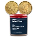 2021 Canada 1 oz Gold Maple Leaf (10-Coin MintDirect® Tube)
