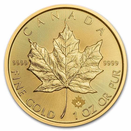 2021 Canada 1 oz Gold Maple Leaf BU