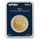 2021 Canada 1 oz Gold Maple Leaf (MD® Premier Single + PCGS FS)