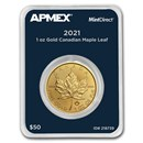 2021 Canada 1 oz Gold Maple Leaf (MintDirect® Single)