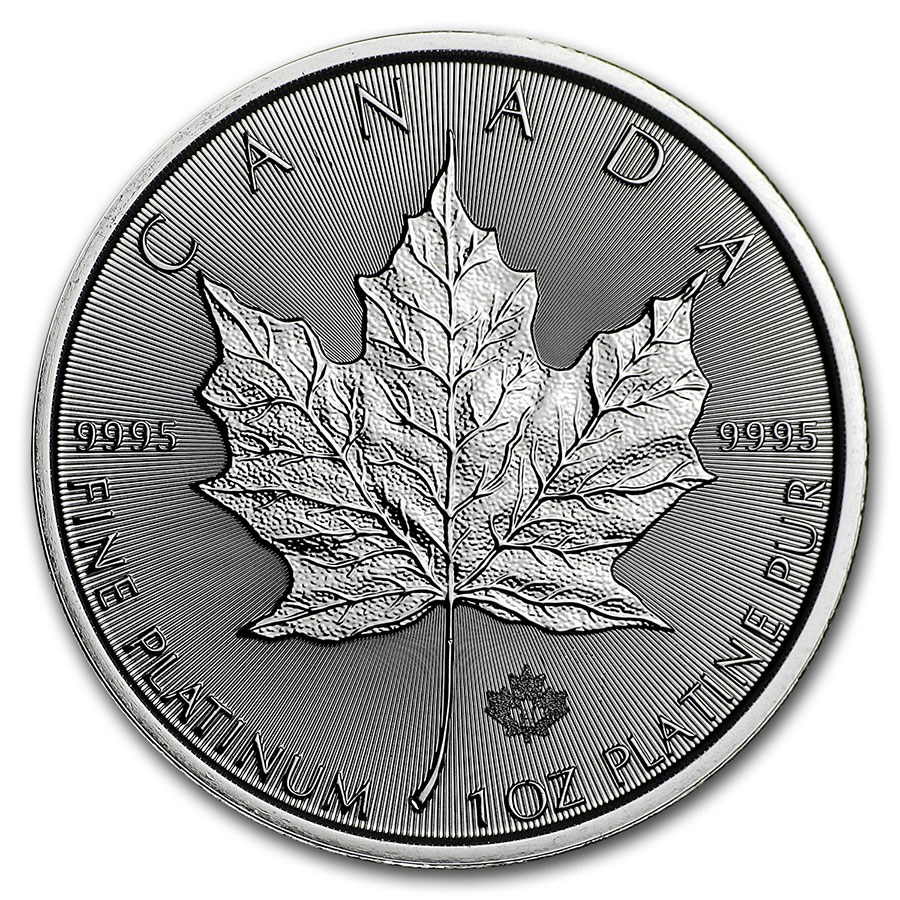 2021 Canada 1 oz Platinum Maple Leaf BU