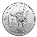 2021 Canada 1 oz Proof Silver $15 Lunar Year of the Ox