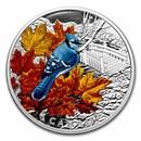 2021 Canada 1 oz Silver $20 Colorful Birds: Blue Jay