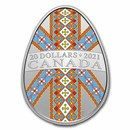 2021 Canada 1 oz Silver $20 Traditional Pysanka