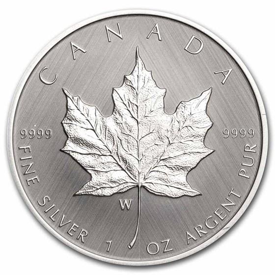 2021 Canada 1 oz Silver $5 Silver Maple Leaf W Mint Mark