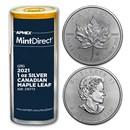 2021 Canada 1 oz Silver Maple Leaf (25-Coin MintDirect® Tube)