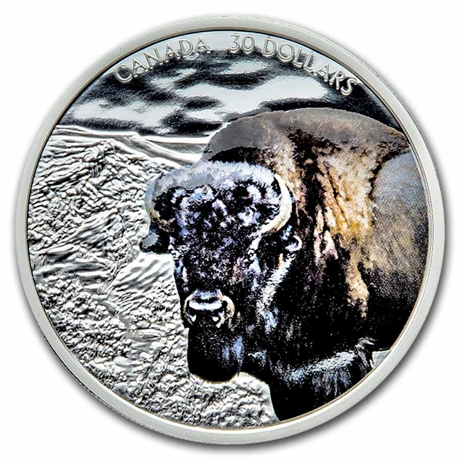 2021 Canada 2 oz Silver $30 Imposing Icons Bison