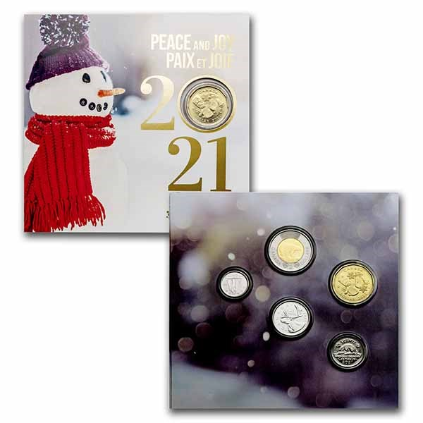 2021 Canada 5-Coin Mint Holiday Gift Set