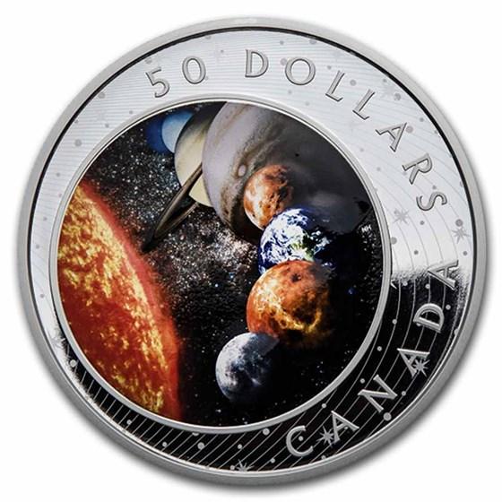 2021 Canada 5 oz Silver $50 The Solar System