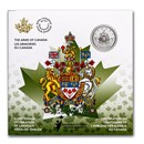 2021 Canada $5 Silver Moments to Hold: The Arms of Canada