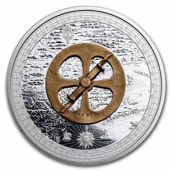 2021 Canada Ag $50 Lost Then Found: Champlain and the Astrolabe