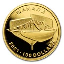 2021 Canada Gold $100 100th Anniv of Bluenose: The Launch