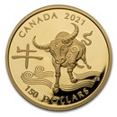 2021 Canada Gold $150 Year of the Ox Proof